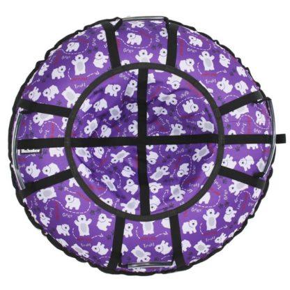 Тюбинг Hubster Lux Pro Мишки фиолетовый 120 см - 1