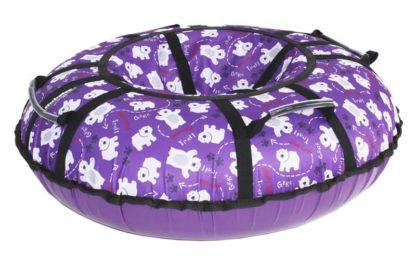 Тюбинг Hubster Lux Pro Мишки фиолетовый 120 см - 2