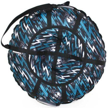 Тюбинг Hubster Lux Pro Молнии синие 120 см - 1