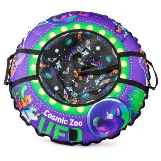 Тюбинг Small Rider Cosmic Zoo UFO Фиолетовый (Волк) 105 см - 1