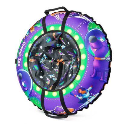 Тюбинг Small Rider Cosmic Zoo UFO Фиолетовый (Волк) 105 см - 2