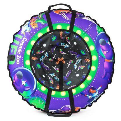 Тюбинг Small Rider Cosmic Zoo UFO Фиолетовый (Волк) 105 см - 3
