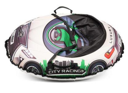 Тюбинг Small Rider Snow Cars 3 LX-зелёный 120 см - 3