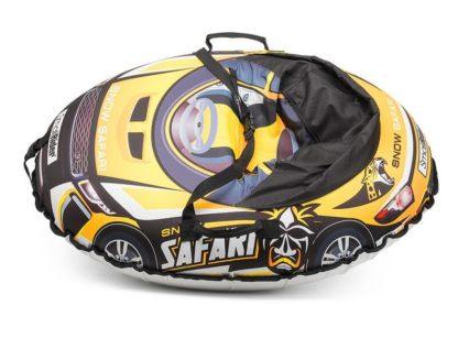 Тюбинг Small Rider Snow Cars 3 Сафари Жёлтый 120 см - 3