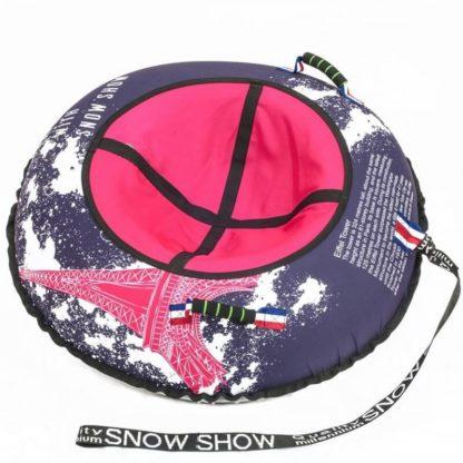 Тюбинг Snow Show Design Standard Красный Эйфель 105 см - 1