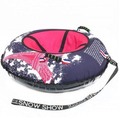 Тюбинг Snow Show Design Standard Красный Эйфель 105 см - 2