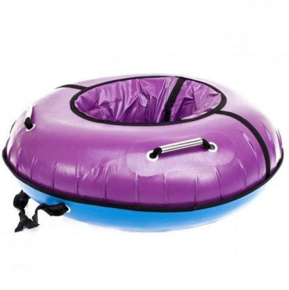 Тюбинг Snow Show Profi с пластиковым дном Фиолетовый 110 см - 3