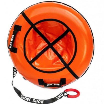 Тюбинг Snow Show Profi с пластиковым дном Оранжевый 110 см - 1