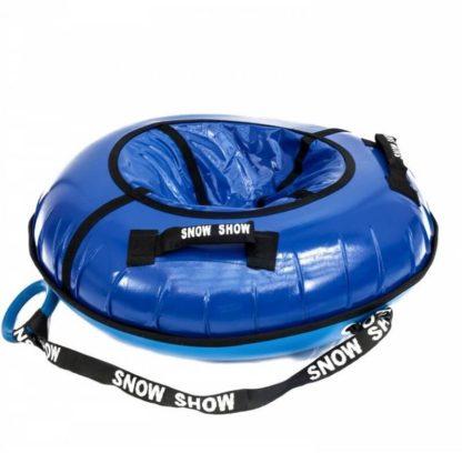 Тюбинг Snow Show Profi с пластиковым дном Синий 110 см - 5