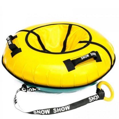 Тюбинг Snow Show Profi с пластиковым дном Жёлтый 110 см - 4