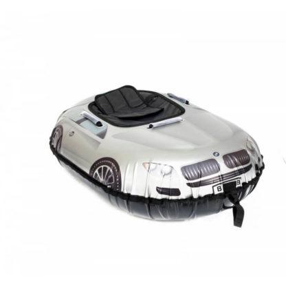 Тюбинг Snow Show Snow Cars Овальный BMW Silver 120 см - 2