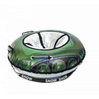 Тюбинг Snow Show Snow Cars Круглый Green Tank 105 см - 3