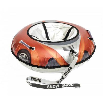 Тюбинг Snow Show Snow Cars Круглый Красное пламя 105 см - 5