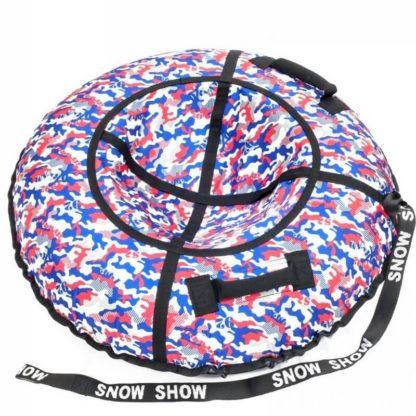 Тюбинг Snow Show Standard Сине-красный камуфляж 120 см - 1