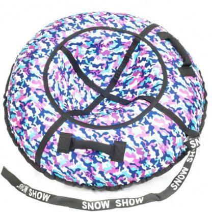 Тюбинг Snow Show Standard Сине-розовый камуфляж 120 см - 1