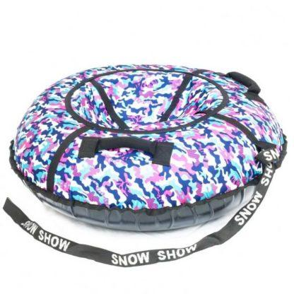 Тюбинг Snow Show Standard Сине-розовый камуфляж 120 см - 2