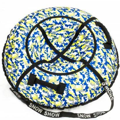 Тюбинг Snow Show Standard Сине-жёлтый камуфляж 120 см - 1