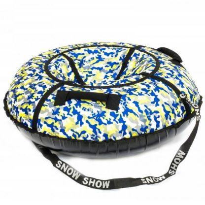 Тюбинг Snow Show Standard Сине-жёлтый камуфляж 120 см - 2