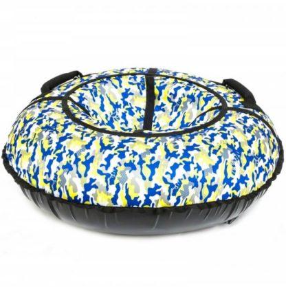 Тюбинг Snow Show Standard Сине-жёлтый камуфляж 120 см - 4