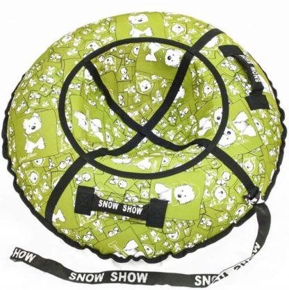Тюбинг Snow Show Standard Собачки в зеленом 120 см - 1