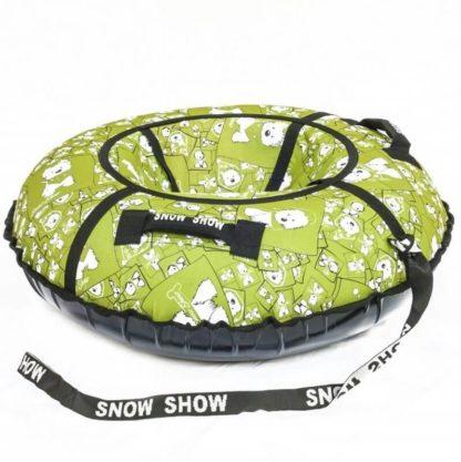 Тюбинг Snow Show Standard Собачки в зеленом 120 см - 2