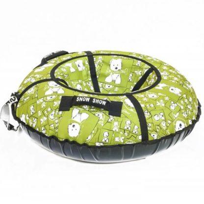 Тюбинг Snow Show Standard Собачки в зеленом 120 см - 3