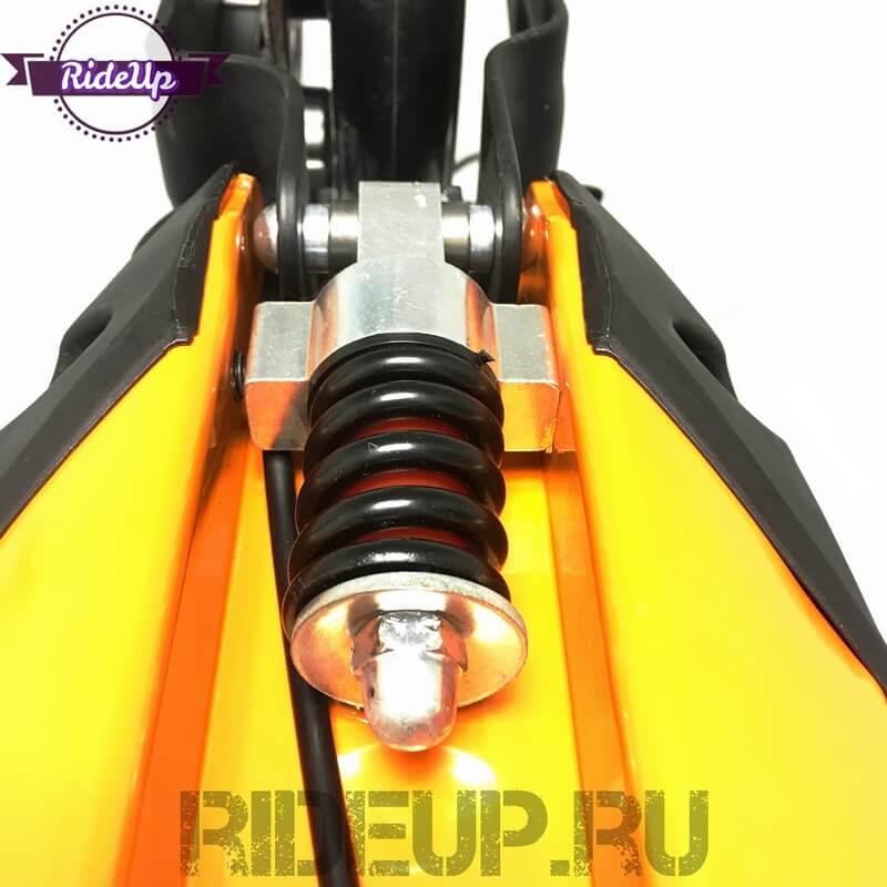 Самокат с ручным дисковым тормозом ATEOX GRAND LUX Оранжевый - 6