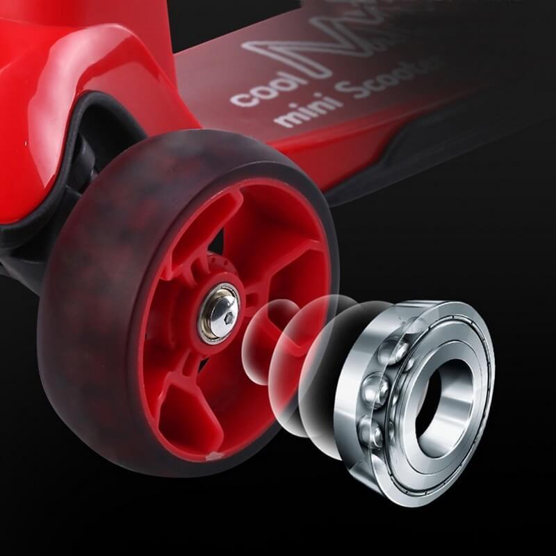 Трёхколёсный самокат со складной ручкой и светящимися колёсами 21st Scooter Cool Master Красный - 3