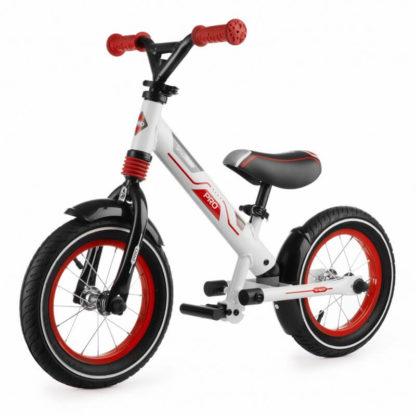 Алюминиевый беговел с надувными колёсами, 2 амортизатора, 2 подножки Small Rider Roadster Pro Красный - 1
