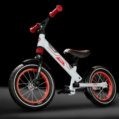 Алюминиевый беговел с надувными колёсами, 2 амортизатора, 2 подножки Small Rider Roadster Pro Красный - 5