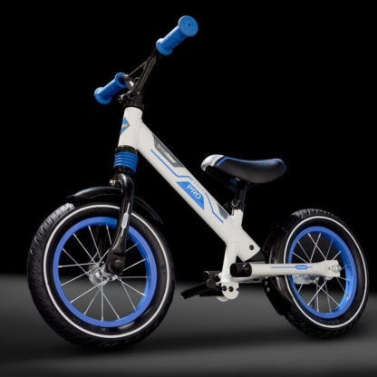 Алюминиевый беговел с надувными колёсами, 2 амортизатора, 2 подножки Small Rider Roadster Pro Синий - 5
