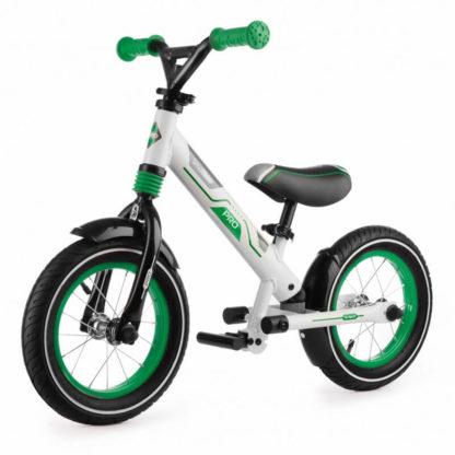 Алюминиевый беговел с надувными колёсами, 2 амортизатора, 2 подножки Small Rider Roadster Pro Зелёный - 1