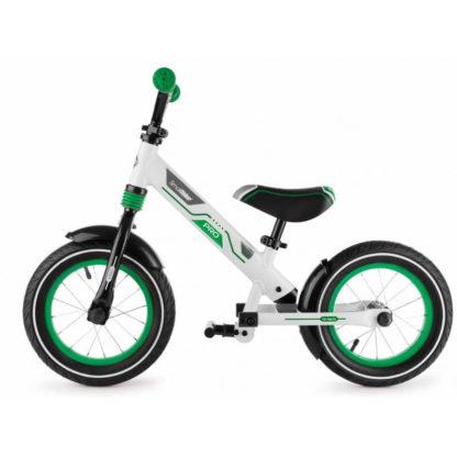 Алюминиевый беговел с надувными колёсами, 2 амортизатора, 2 подножки Small Rider Roadster Pro Зелёный - 2