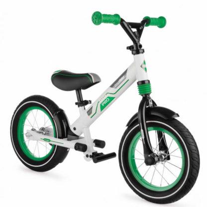 Алюминиевый беговел с надувными колёсами, 2 амортизатора, 2 подножки Small Rider Roadster Pro Зелёный - 3