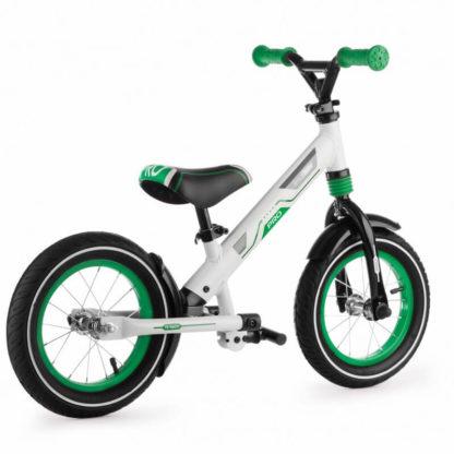 Алюминиевый беговел с надувными колёсами, 2 амортизатора, 2 подножки Small Rider Roadster Pro Зелёный - 4