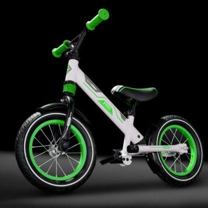 Алюминиевый беговел с надувными колёсами, 2 амортизатора, 2 подножки Small Rider Roadster Pro Зелёный - 5