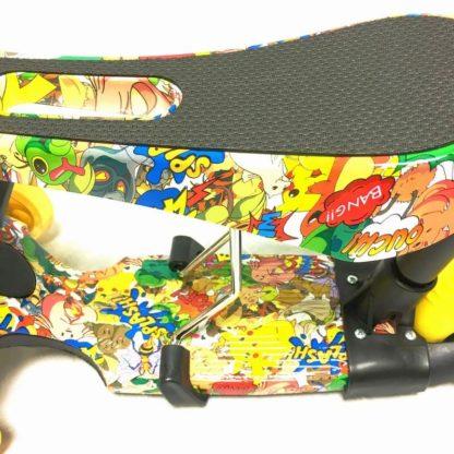 Самокат 5 в 1 с сиденьем, родительской ручкой, подставкой для ног и светящимися колёсами 21st Scooter 5 in 1 Print Покемоны - 2