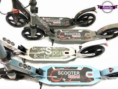 Двухколёсный самокат с ручным тормозом, двумя амортизаторами и большими колёсами Urban Scooter SR2-018 - 4 цвета
