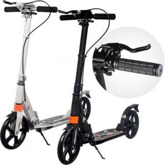 Городские самокаты с ручным тормозом Urban Scooter Sport Чёрный и белый