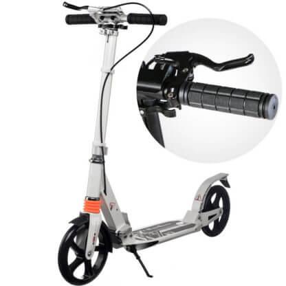 Городской самокат с ручным тормозом Urban Scooter Sport Белый