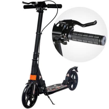 Городской самокат с ручным тормозом Urban Scooter Sport Чёрный