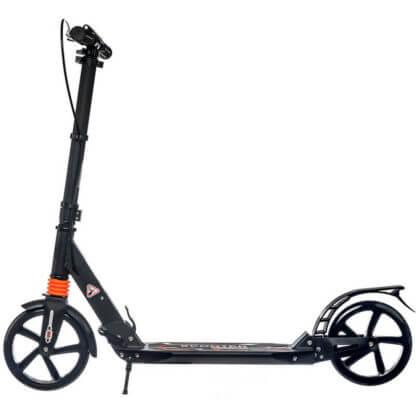Городской самокат с ручным тормозом Urban Scooter Sport Чёрный - вид сбоку