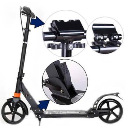 Городской самокат с ручным тормозом Urban Scooter Sport Чёрный - 2