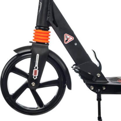 Городской самокат с ручным тормозом Urban Scooter Sport Чёрный - переднее колесо