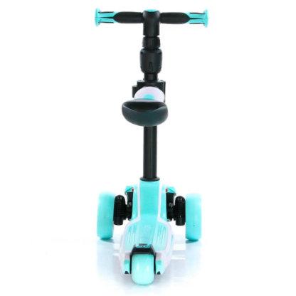 Трёхколёсный самокат с сиденьем и светящимися колёсами Scooter Micar Moby 3 в 1 Голубой, для детей от 1 до 8 лет - 11