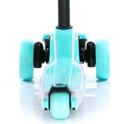 Трёхколёсный самокат с сиденьем и светящимися колёсами Scooter Micar Moby 3 в 1 Голубой, для детей от 1 до 8 лет - 5