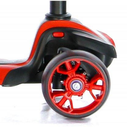 Трёхколёсный самокат с сиденьем и светящимися колёсами Scooter Micar Moby 3 в 1 Красный, для детей от 1 до 8 лет - 10