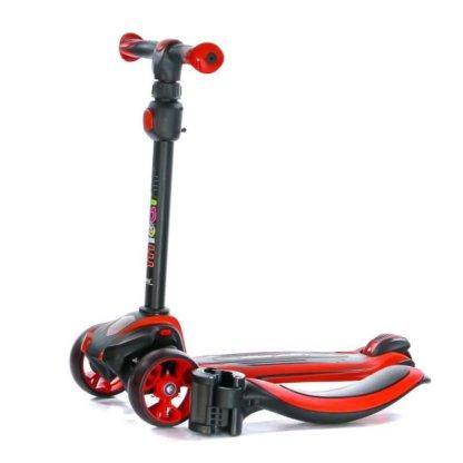 Трёхколёсный самокат с сиденьем и светящимися колёсами Scooter Micar Moby 3 в 1 Красный, для детей от 1 до 8 лет - 13