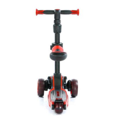 Трёхколёсный самокат с сиденьем и светящимися колёсами Scooter Micar Moby 3 в 1 Красный, для детей от 1 до 8 лет - 3