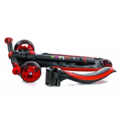 Трёхколёсный самокат с сиденьем и светящимися колёсами Scooter Micar Moby 3 в 1 Красный, для детей от 1 до 8 лет - 6